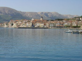 A small town on Krk island